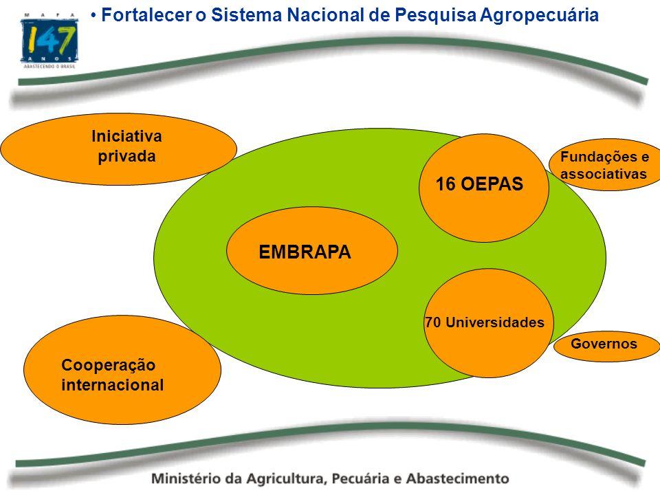 Fortalecer o Sistema Nacional de Pesquisa Agropecuária
