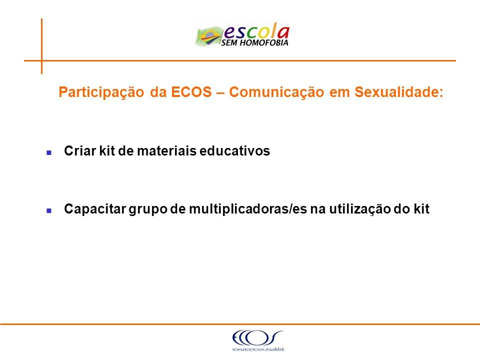 Participação da ECOS – Comunicação em Sexualidade: