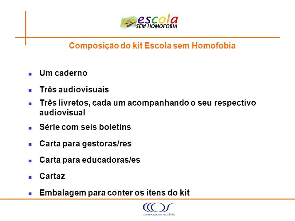Composição do kit Escola sem Homofobia