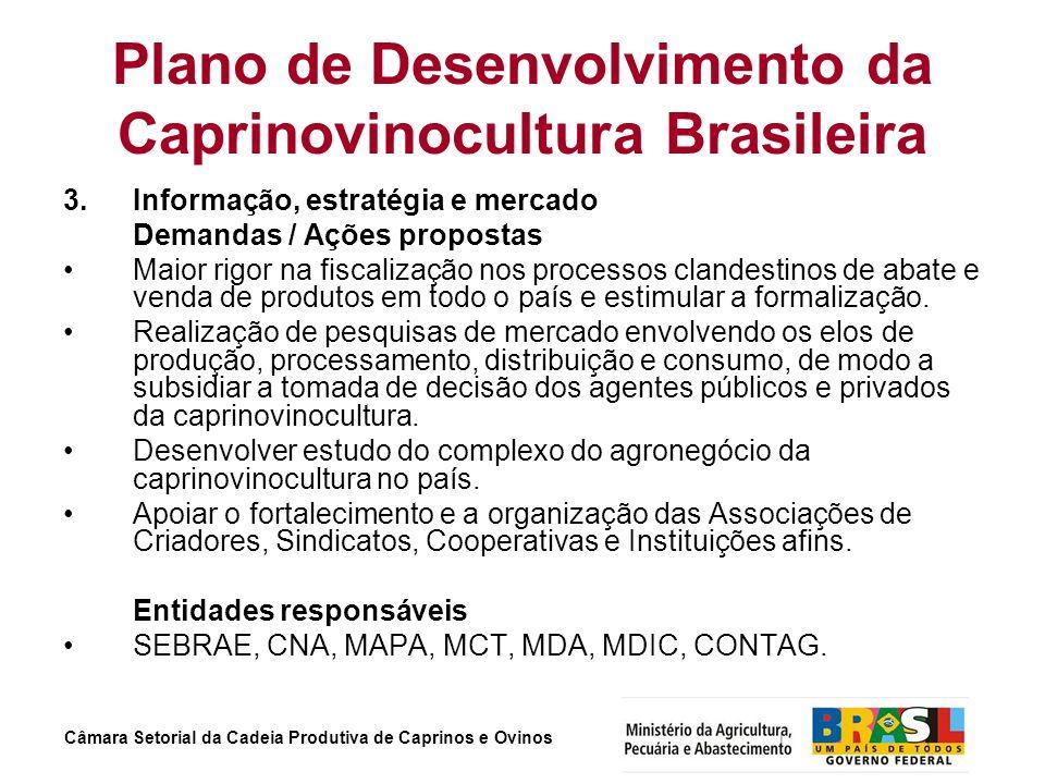 Plano de Desenvolvimento da Caprinovinocultura Brasileira
