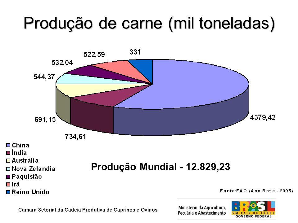 Produção de carne (mil toneladas)