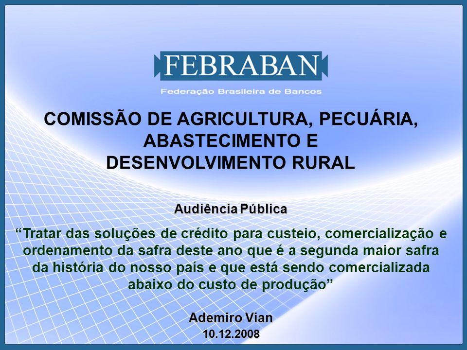 COMISSÃO DE AGRICULTURA, PECUÁRIA, ABASTECIMENTO E