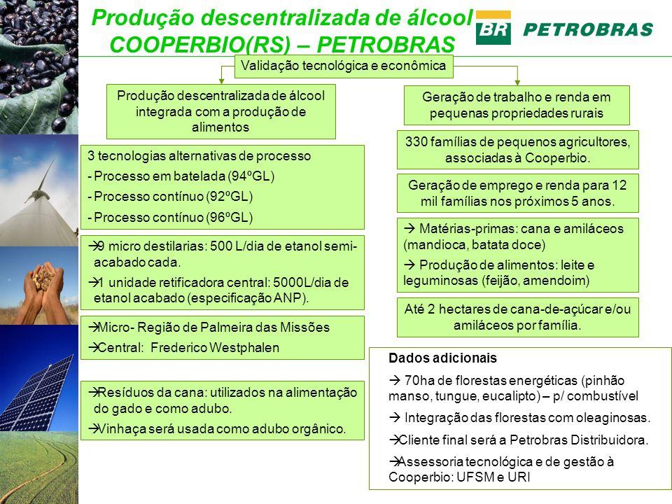 Produção descentralizada de álcool COOPERBIO(RS) – PETROBRAS