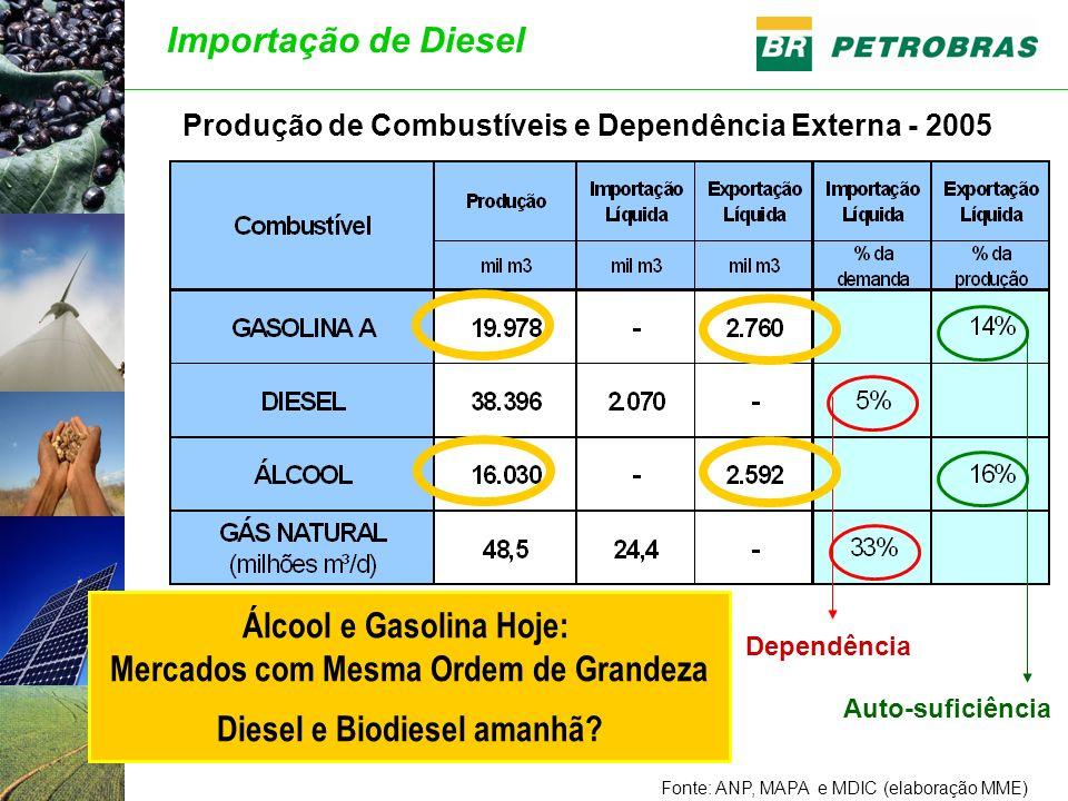 Álcool e Gasolina Hoje: Mercados com Mesma Ordem de Grandeza