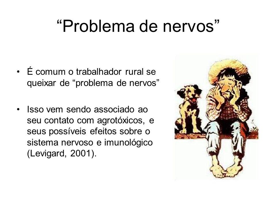 Problema de nervos É comum o trabalhador rural se queixar de problema de nervos