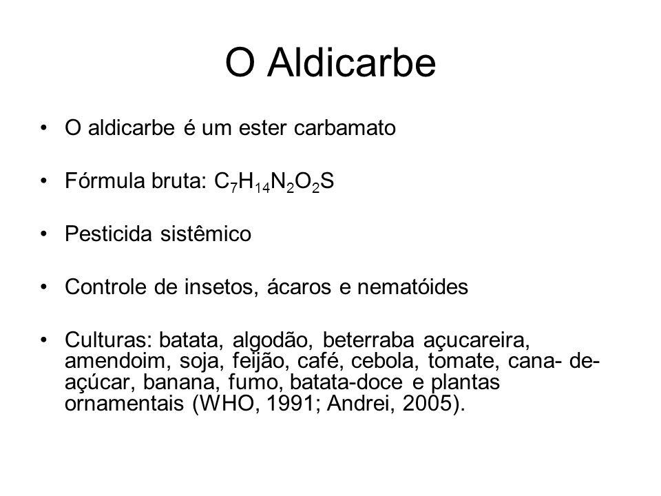O Aldicarbe O aldicarbe é um ester carbamato Fórmula bruta: C7H14N2O2S