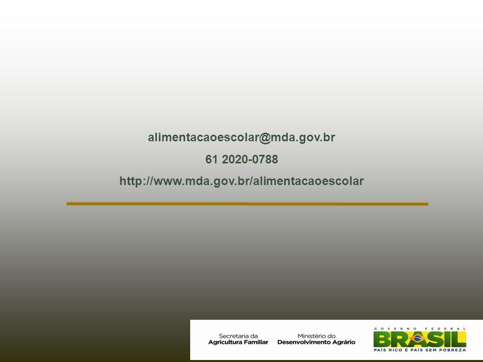 alimentacaoescolar@mda.gov.br 61 2020-0788 http://www.mda.gov.br/alimentacaoescolar