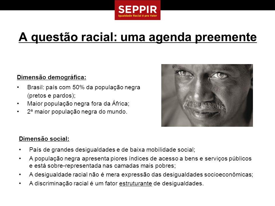 A questão racial: uma agenda preemente