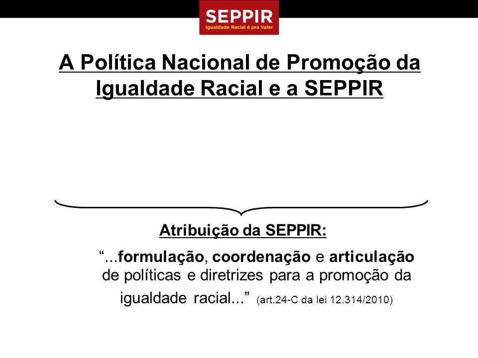 A Política Nacional de Promoção da Igualdade Racial e a SEPPIR