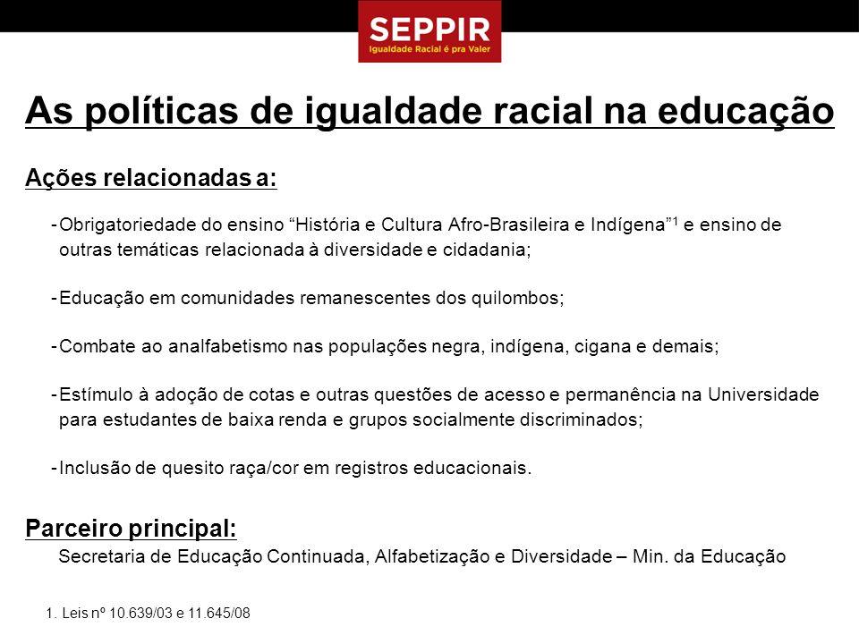 As políticas de igualdade racial na educação