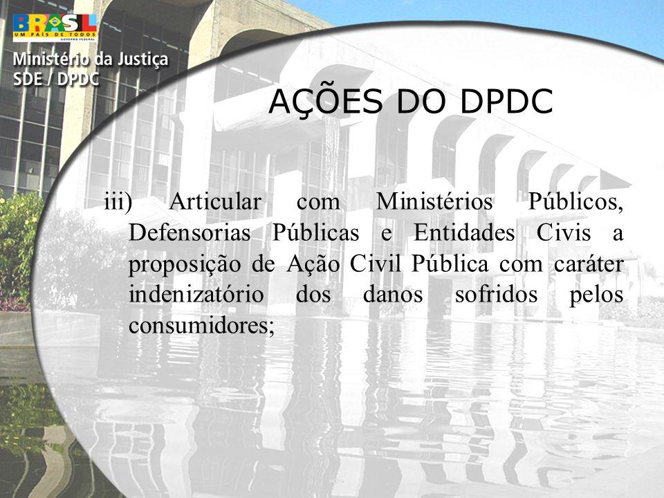 AÇÕES DO DPDC