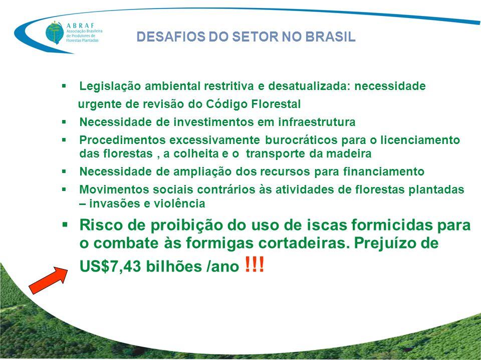 DESAFIOS DO SETOR NO BRASIL