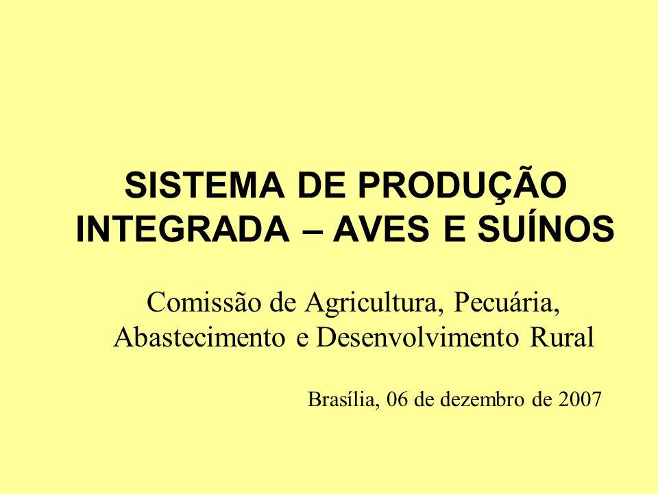 SISTEMA DE PRODUÇÃO INTEGRADA – AVES E SUÍNOS