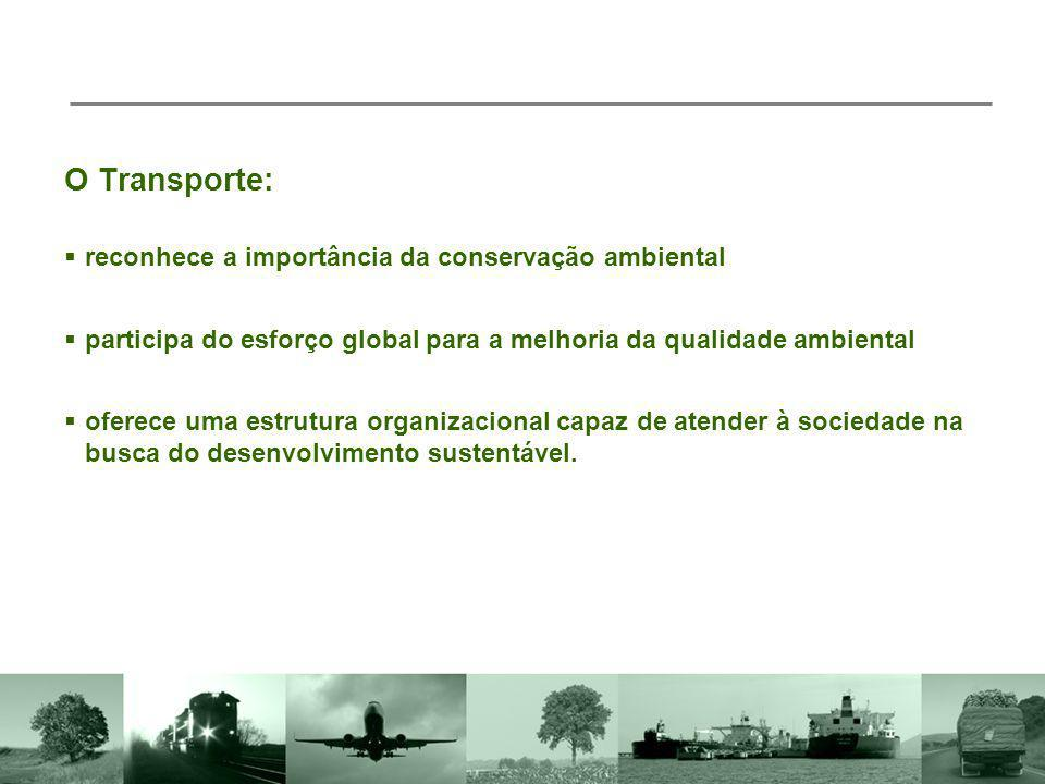 O Transporte: reconhece a importância da conservação ambiental