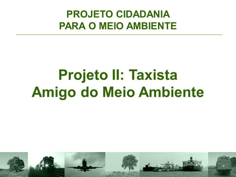 Projeto II: Taxista Amigo do Meio Ambiente