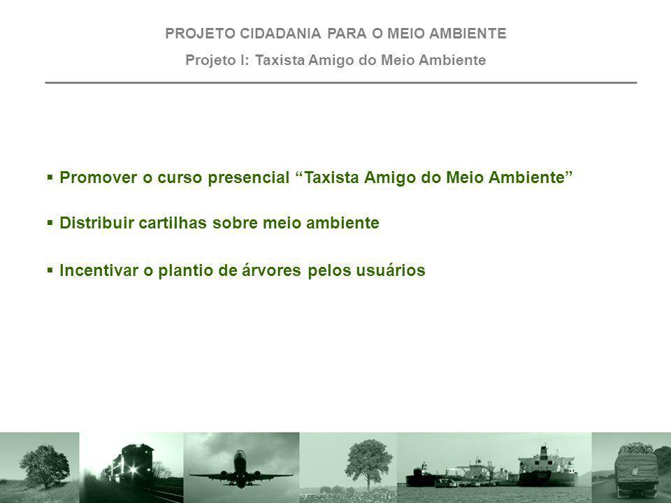 Promover o curso presencial Taxista Amigo do Meio Ambiente