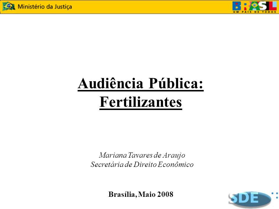 Audiência Pública: Fertilizantes