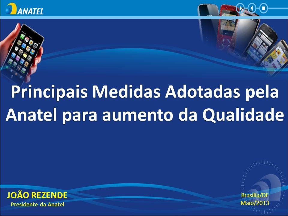 Principais Medidas Adotadas pela Anatel para aumento da Qualidade