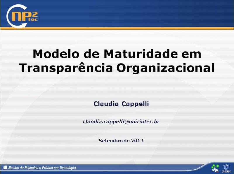 Modelo de Maturidade em Transparência Organizacional