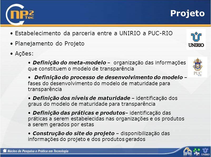 Projeto Estabelecimento da parceria entre a UNIRIO a PUC-RIO