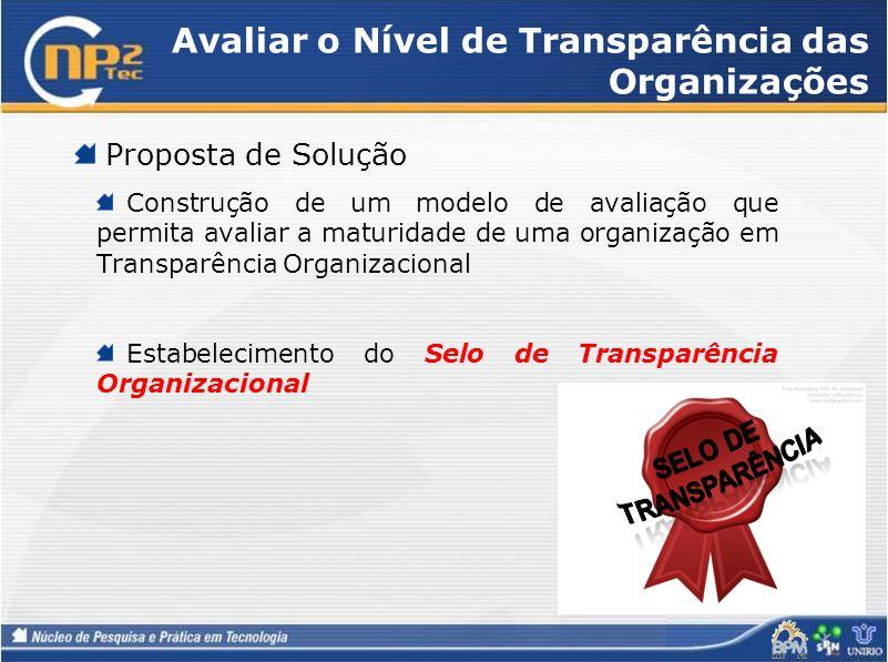 Avaliar o Nível de Transparência das Organizações
