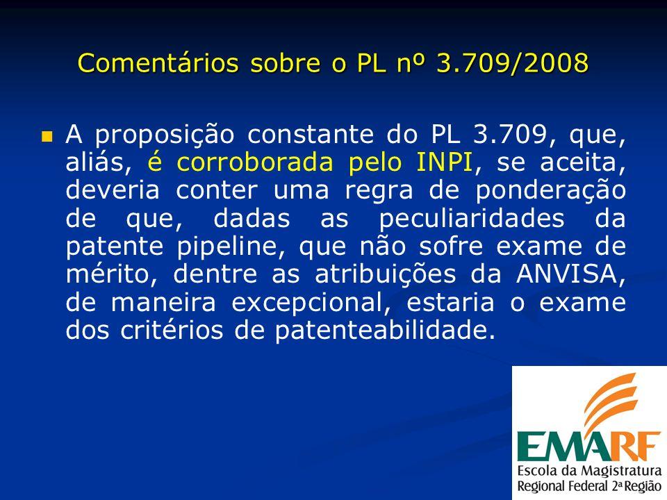 Comentários sobre o PL nº 3.709/2008