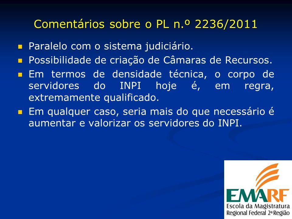 Comentários sobre o PL n.º 2236/2011