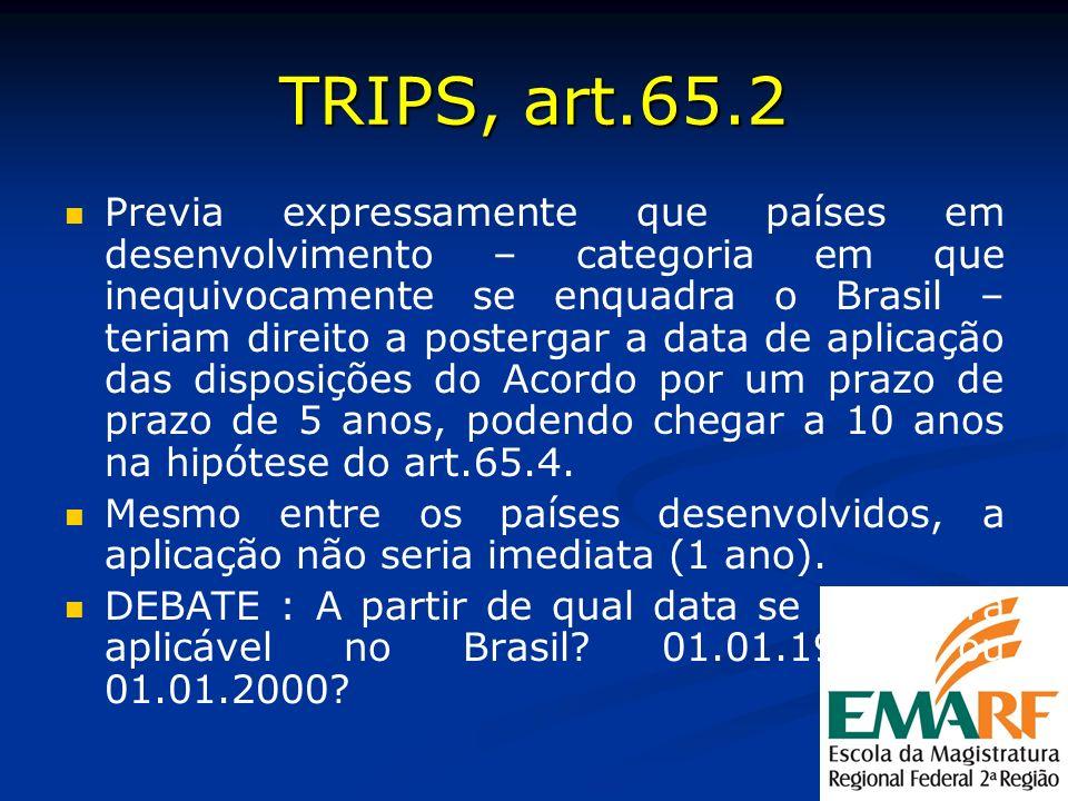 TRIPS, art.65.2