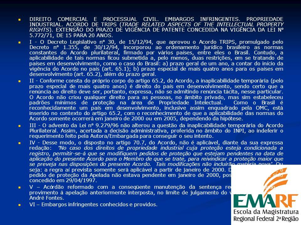 DIREITO COMERCIAL E PROCESSUAL CIVIL. EMBARGOS INFRINGENTES