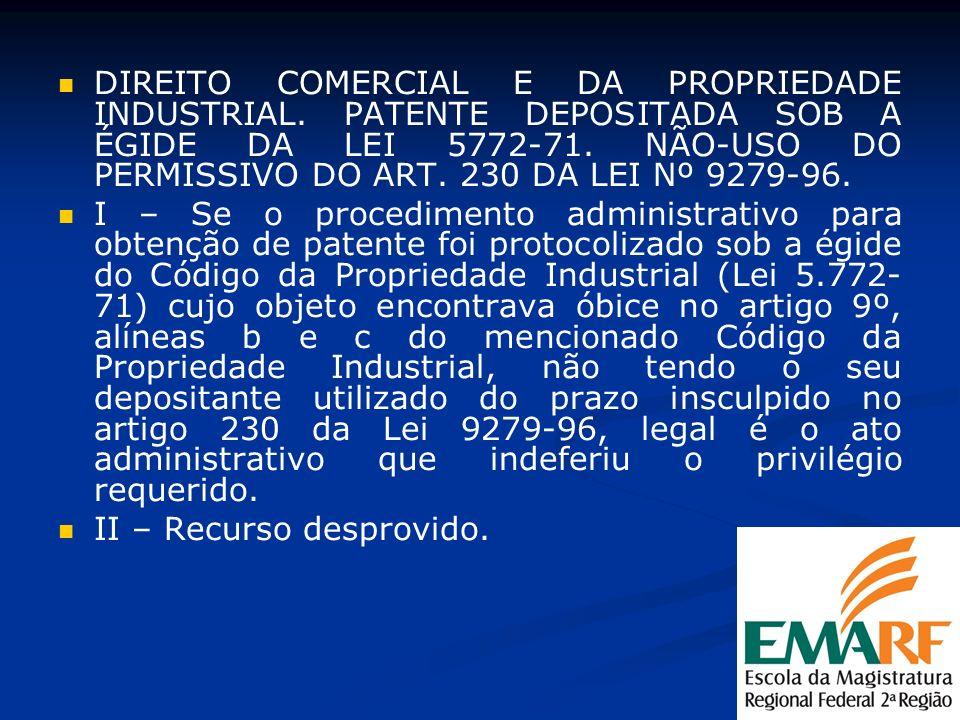 DIREITO COMERCIAL E DA PROPRIEDADE INDUSTRIAL