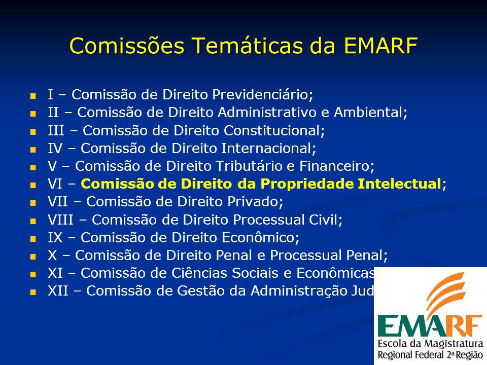 Comissões Temáticas da EMARF