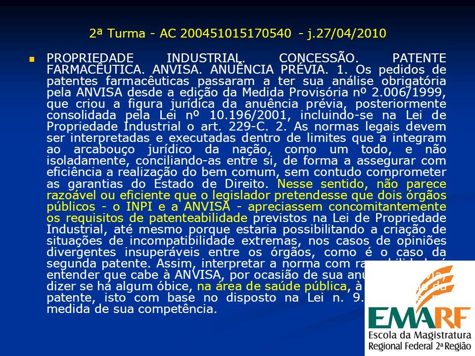 2ª Turma - AC 200451015170540 - j.27/04/2010