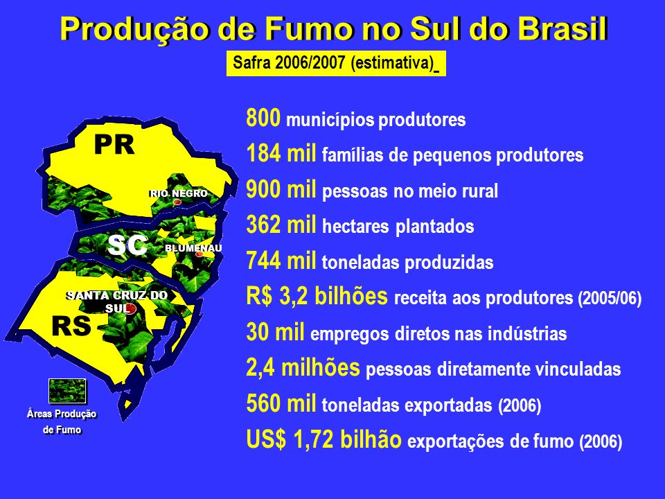 Produção de Fumo no Sul do Brasil