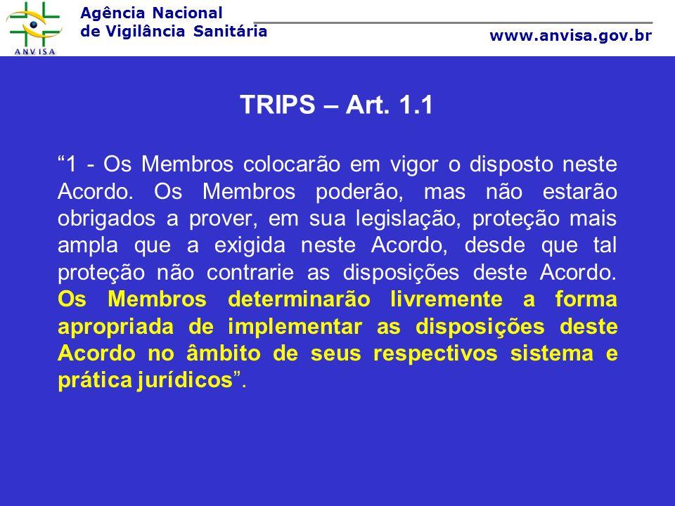 TRIPS – Art. 1.1
