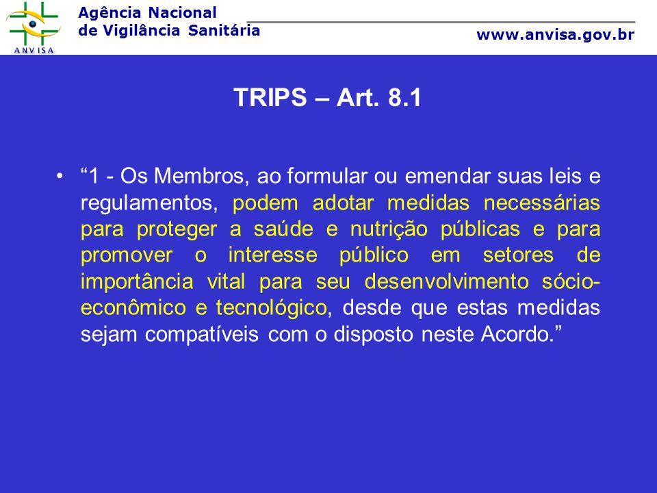 TRIPS – Art. 8.1