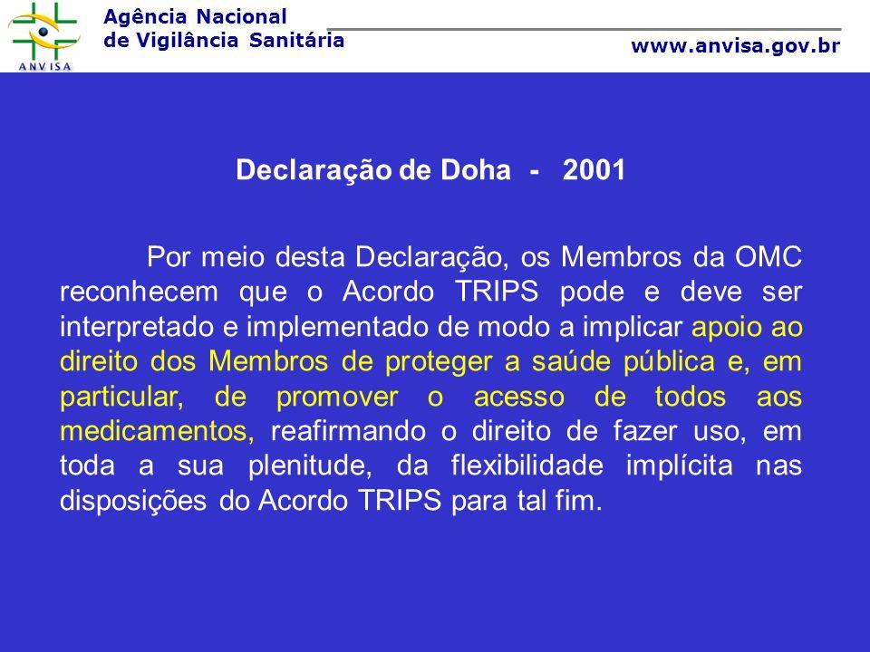 Declaração de Doha - 2001.