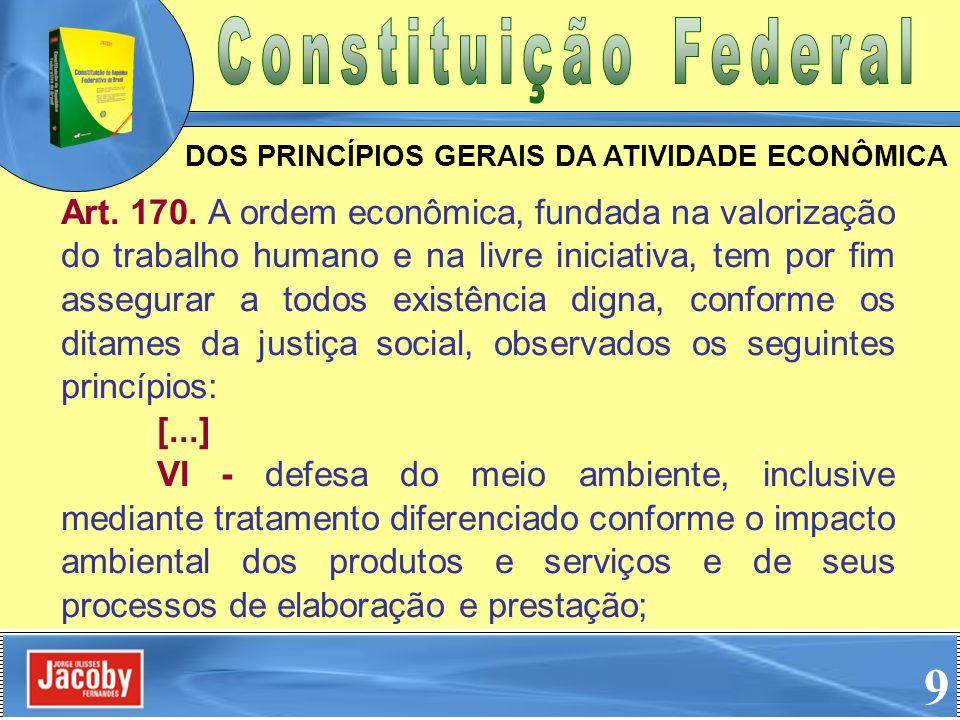 DOS PRINCÍPIOS GERAIS DA ATIVIDADE ECONÔMICA