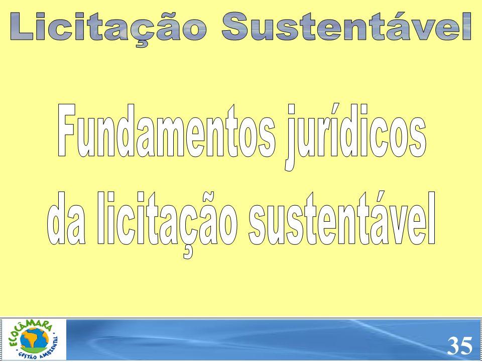 35 Licitação Sustentável Fundamentos jurídicos