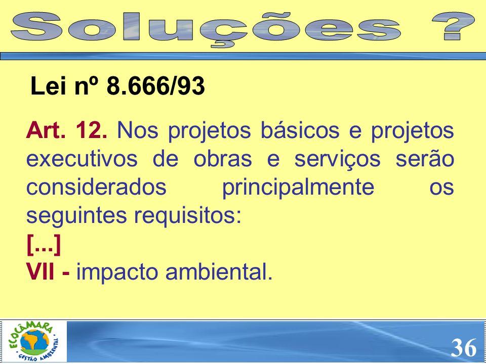 Soluções Lei nº 8.666/93.