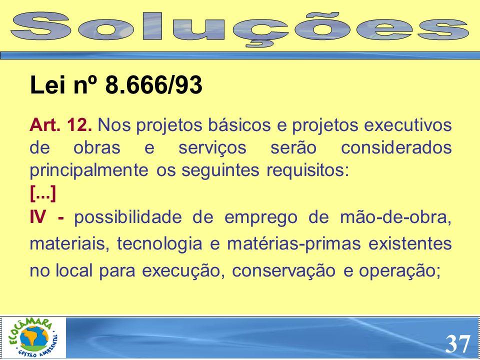 SoluçõesLei nº 8.666/93.