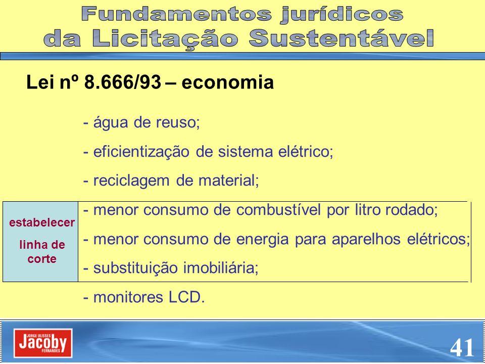 41 Fundamentos jurídicos da Licitação Sustentável