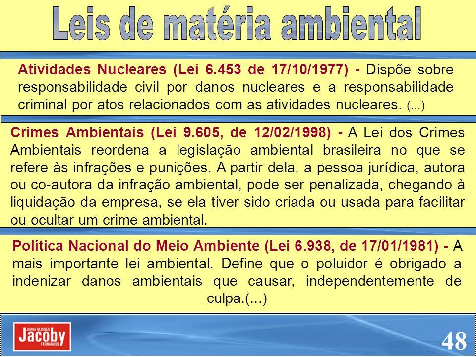 Leis de matéria ambiental