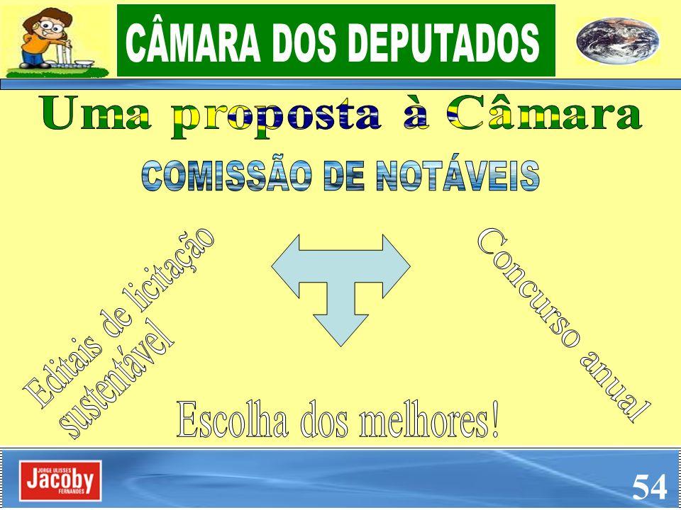 54 CÂMARA DOS DEPUTADOS COMISSÃO DE NOTÁVEIS Uma proposta à Câmara