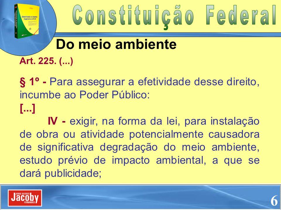 6 Do meio ambiente Constituição Federal