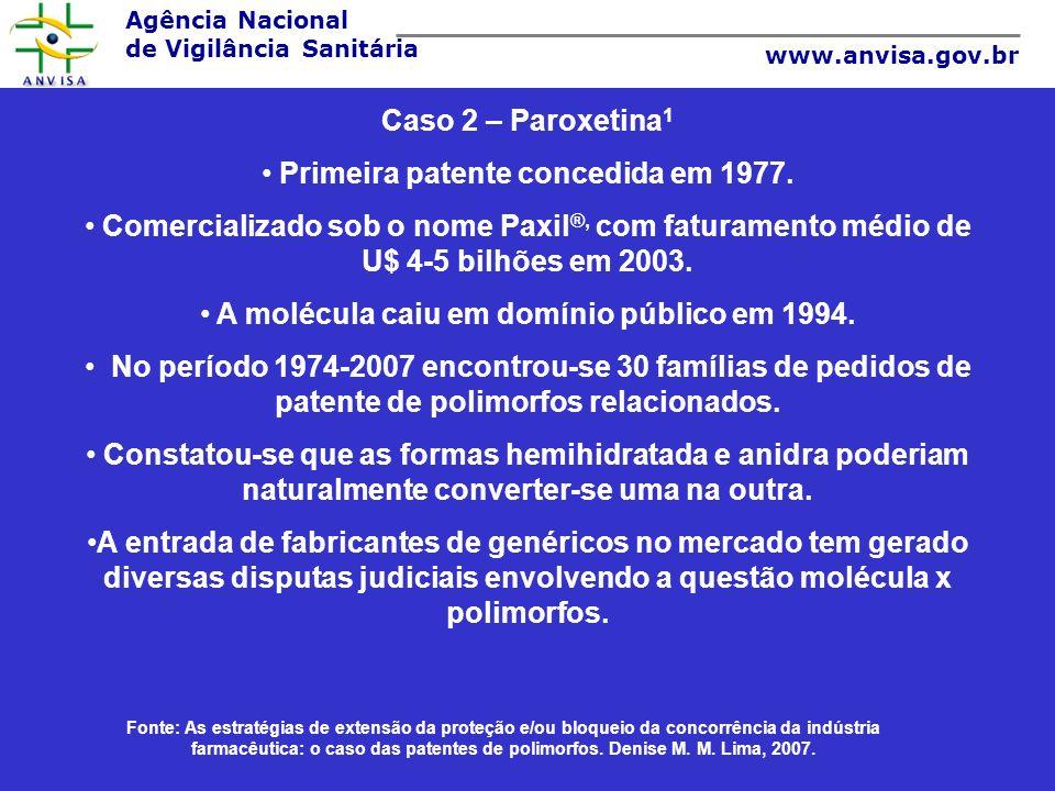 Primeira patente concedida em 1977.