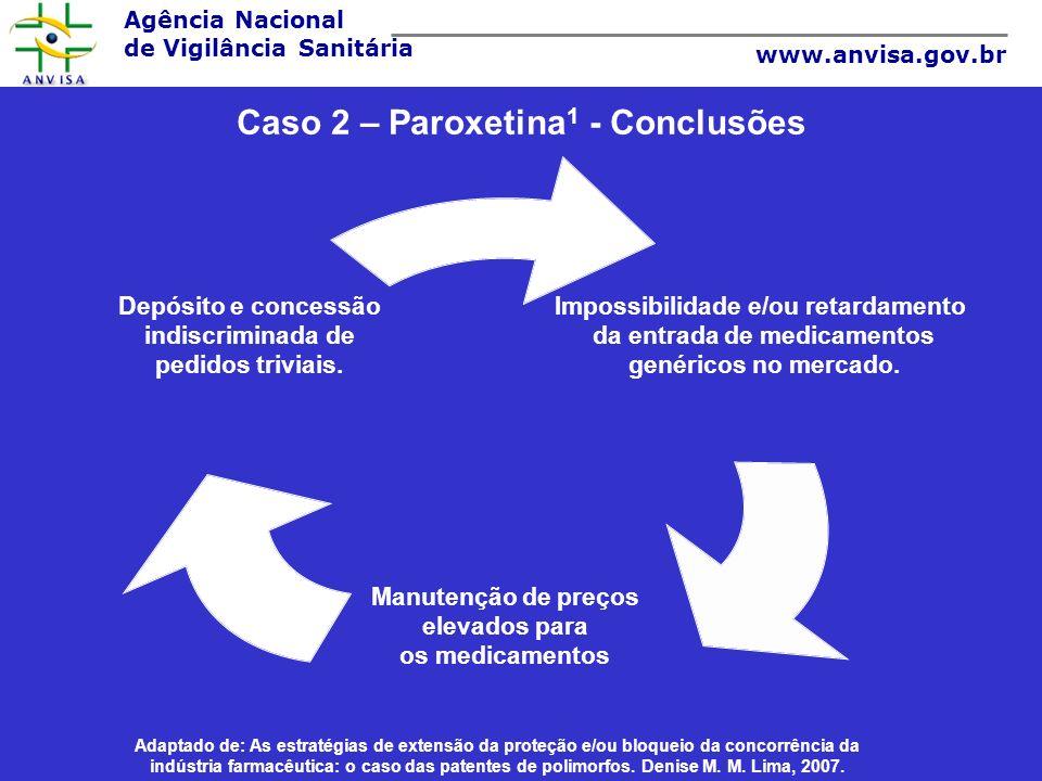 Caso 2 – Paroxetina1 - Conclusões