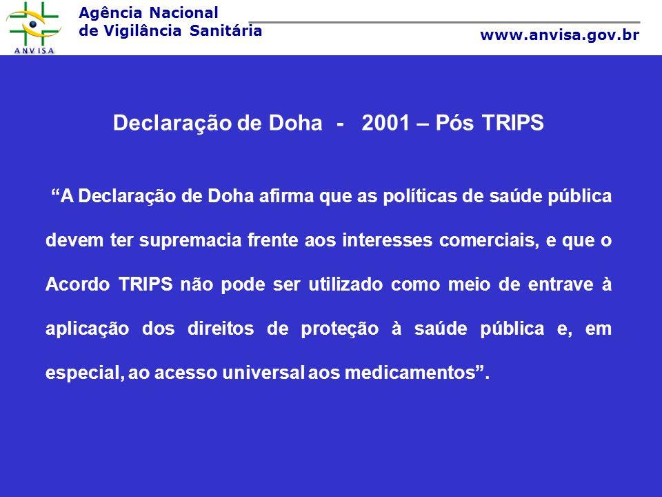 Declaração de Doha - 2001 – Pós TRIPS