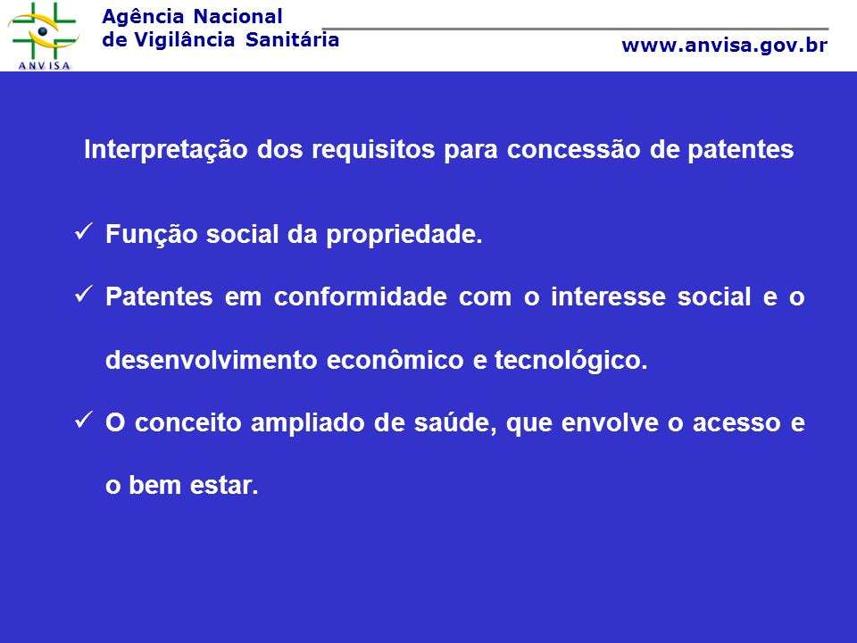 Interpretação dos requisitos para concessão de patentes