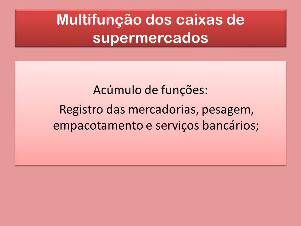 Multifunção dos caixas de supermercados