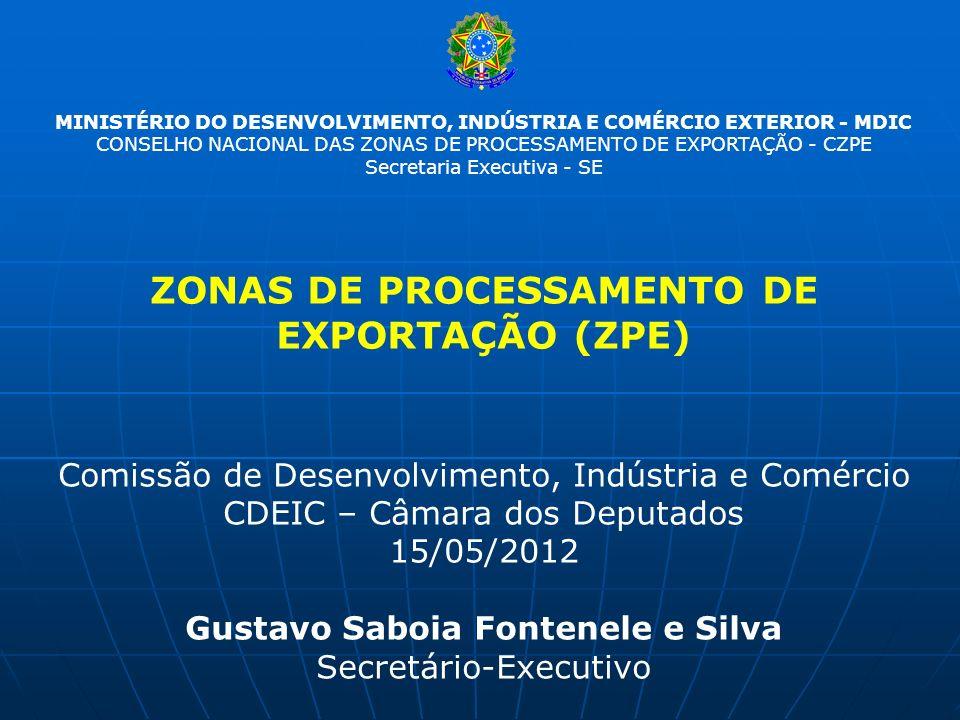 ZONAS DE PROCESSAMENTO DE EXPORTAÇÃO (ZPE)